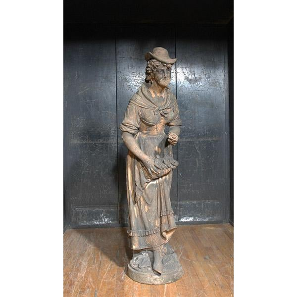 Early 19th Century English Terra Cotta Statue For Sale - Image 5 of 5