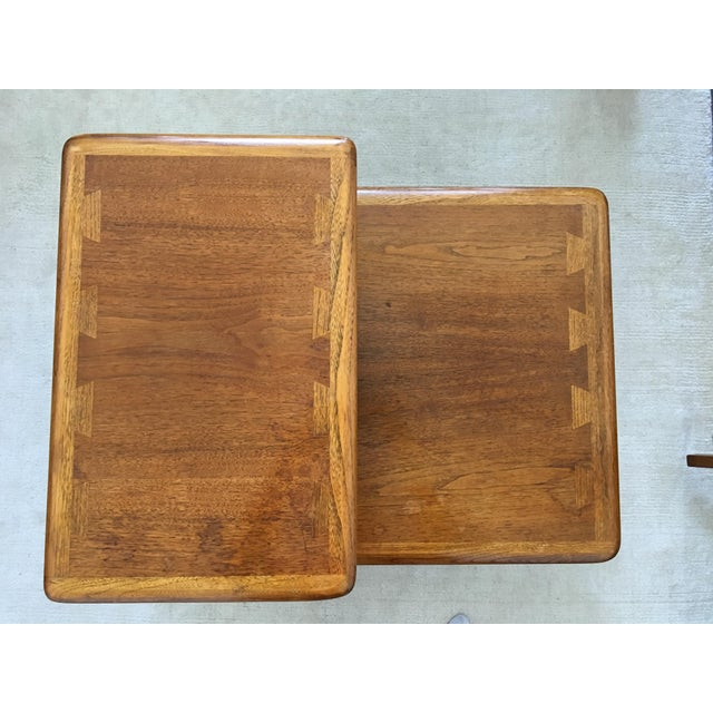 Mid Century Modern Walnut Coffee & Side Table Set by Andre Bus for Altavista Lane - Image 6 of 9