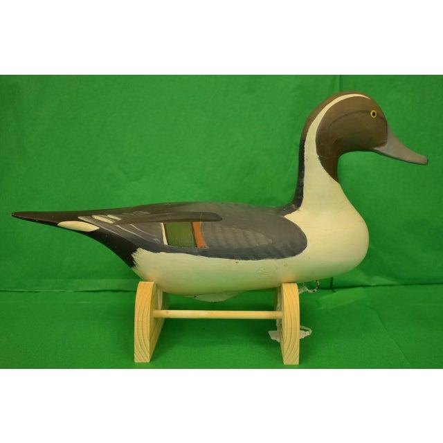 Wood 1987 Vintage Capt. Harry Jobes Pintail Duck Decoy For Sale - Image 7 of 7