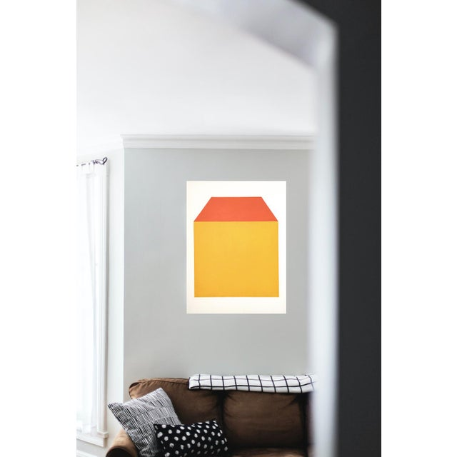 """Contemporary """"Façade"""" Contemporary Minimalist Geometric Oil Painting by Shyun Song For Sale - Image 3 of 3"""
