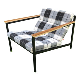 Gus Modern Halifax Chair in Tartan Plaid For Sale