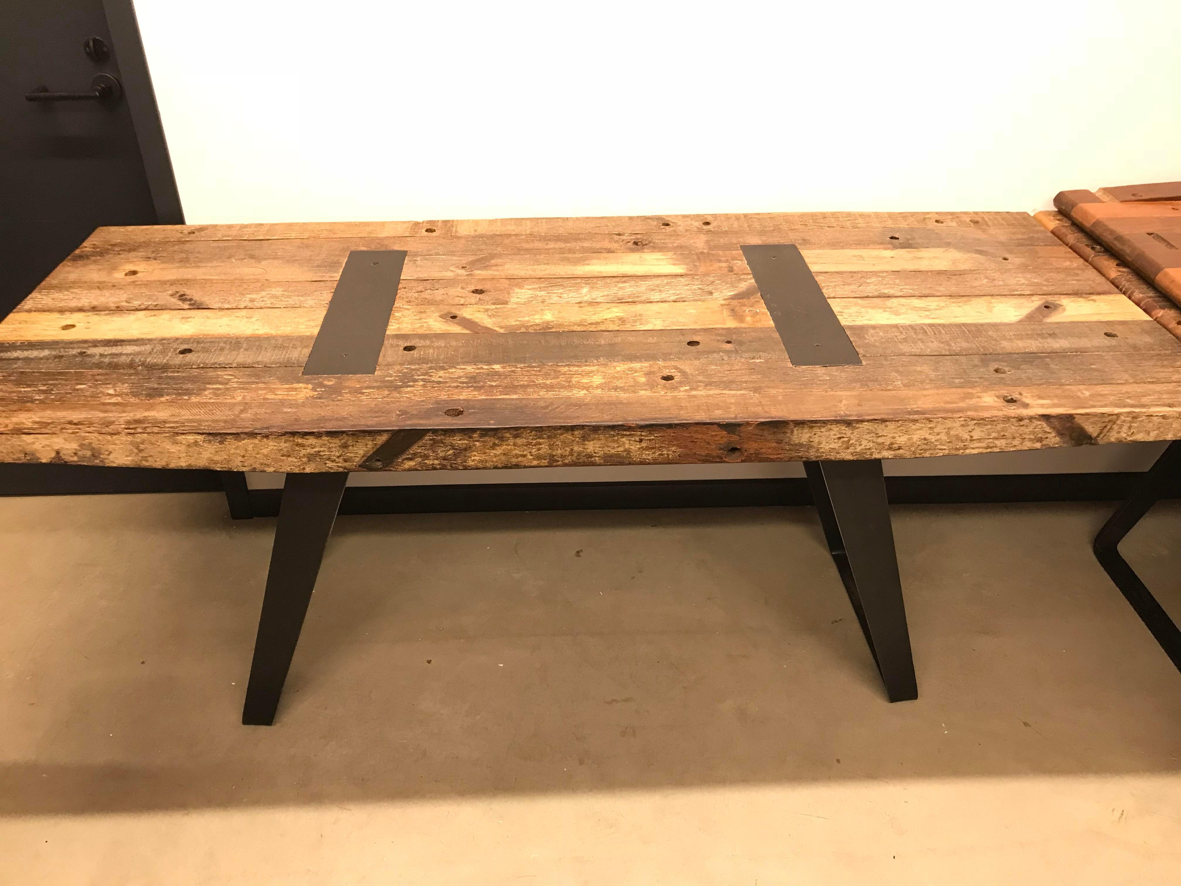 Beau Rustic Crate U0026 Barrel Phoenix Rustic Work Table For Sale   Image 3 ...