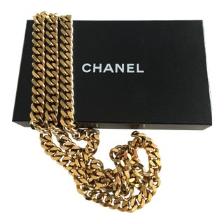 Chanel Classic Double Strand Chain Link Belt For Sale