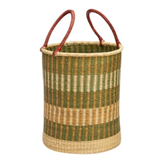 Handwoven African Laundry Basket