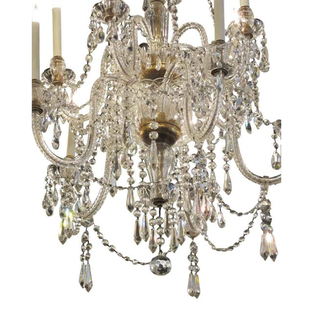 Tall Eight Arm Crystal Chandelier For Sale - Image 4 of 7