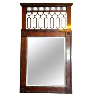 Stately French Empire Mahogany Mirror For Sale