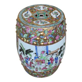 Contemporary Chinoiserie Garden Stool
