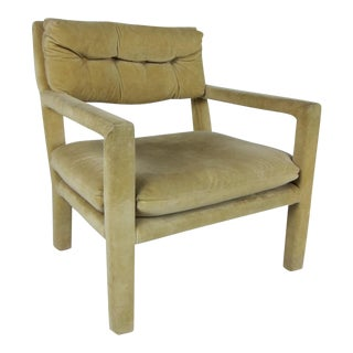 Pair of Open Arm Lounge Chairs by Milo Baughman for Directional For Sale