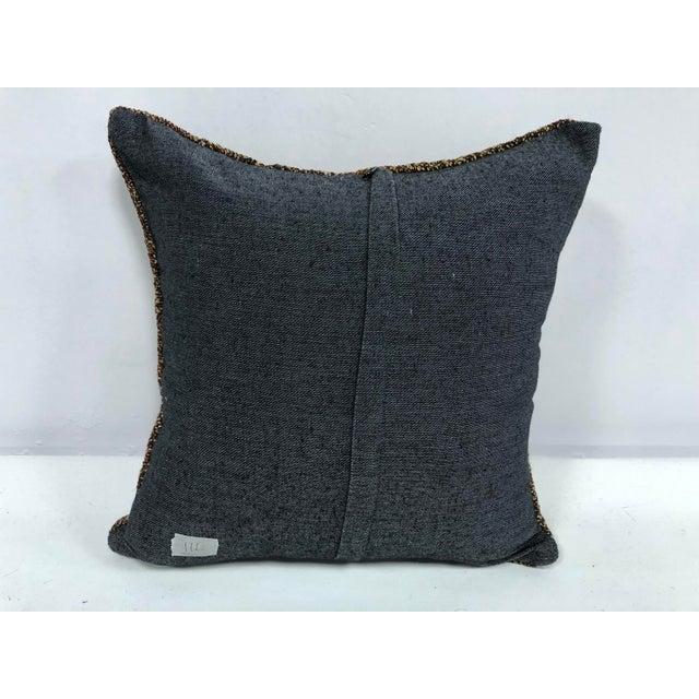 Turkish Anatolian Ethnic Decorative Traditional Kilim Cushion Cover For Sale - Image 4 of 6