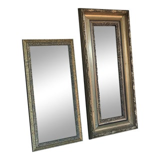 Vintage Rectangular Wall Mirrors - a Pair For Sale