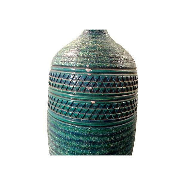 Bitossi Turqoise Blue Large Ceramic Lamp For Sale In Detroit - Image 6 of 6