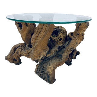 1970s Mid-Century Modern Driftwood Coffee or Side Table For Sale