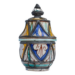 Moroccan Lidded Jar For Sale