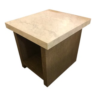 Contemporary Lorrain Square End Table For Sale