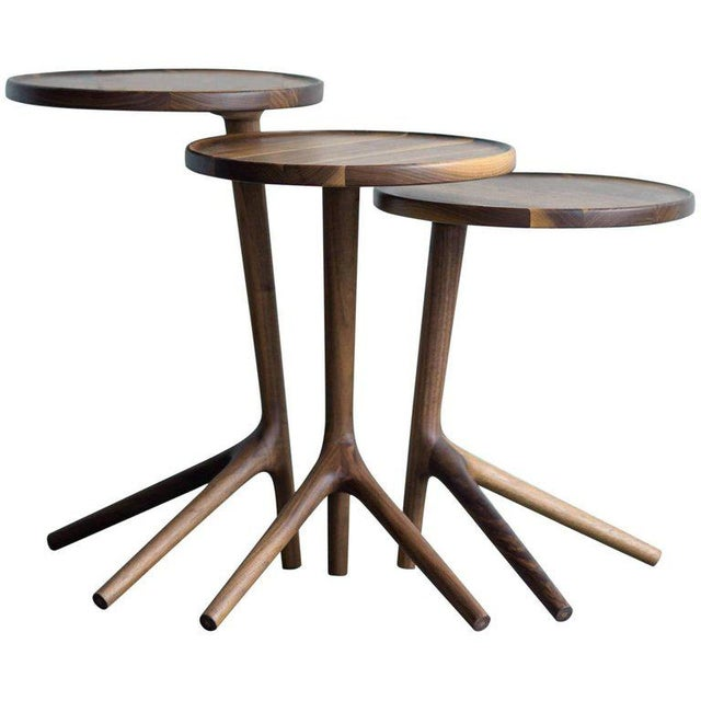 Tripod Nesting End Tables - Set of 3 For Sale - Image 13 of 13