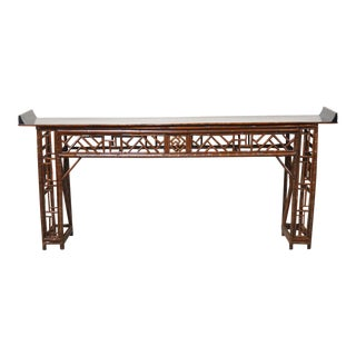 Chinese Bamboo Altar Table For Sale