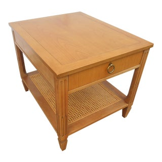 1970s French Regency Baker Furniture Maple Coffee/End Table For Sale