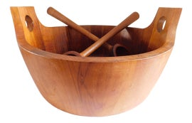 Image of Teak Serving Dishes and Pieces