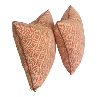 1990s Fortuny Throw Pillows - A Pair For Sale