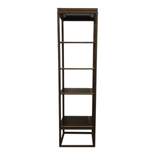 Transitional Sherril Co. Wood and Gold Etagere For Sale
