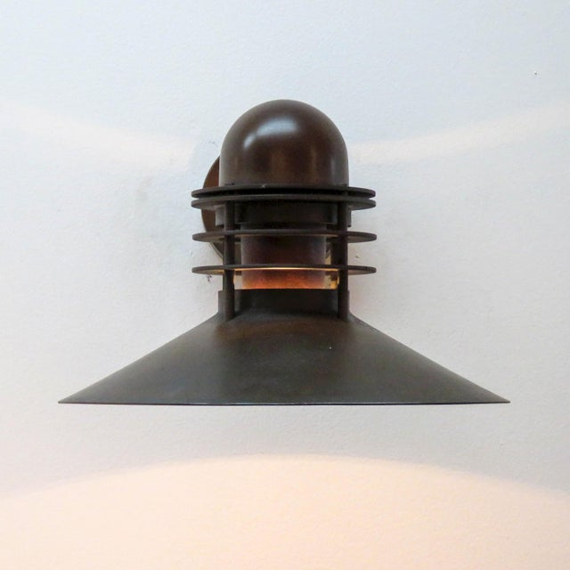 Louis Poulsen Copper Outdoor Lamp, 1970 For Sale In Los Angeles - Image 6 of 9