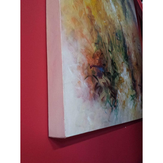 """Acrylic Painting on Canvas Titled: """"Summer Glow"""" For Sale In West Palm - Image 6 of 10"""