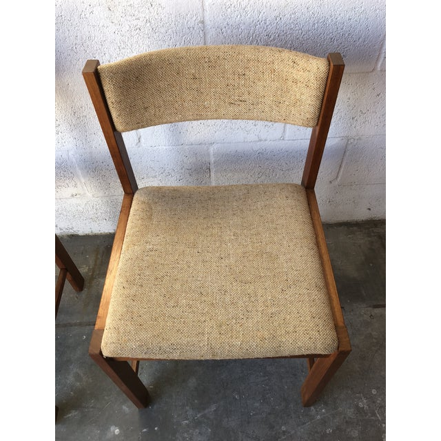 Vintage Mid Century Danish Modern Style Dining Chairs (Set of Four) For Sale - Image 4 of 13