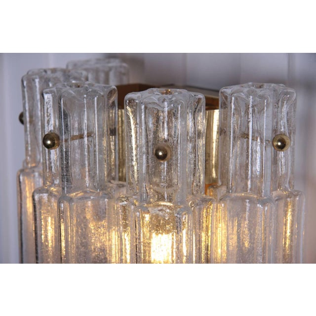 1960s Pair of Glashütte Limburg 3141 Wall Sconces in Handblown Glass For Sale - Image 5 of 7
