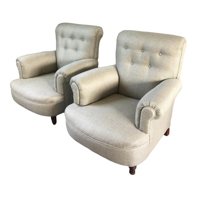 French Club Chairs - a Pair For Sale