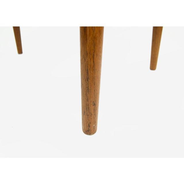 Hans Wegner for Johannes Hansen Teak Round Arm Chair For Sale - Image 10 of 13