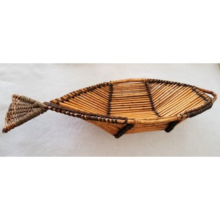 Large Fish Shaped Bamboo Basket Preview