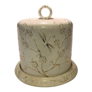 Vintage Porcelain & Gold Cheese Dome