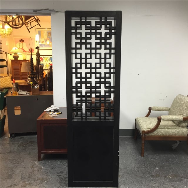 Custom Made Four Panel Wooden Screen - Image 3 of 11