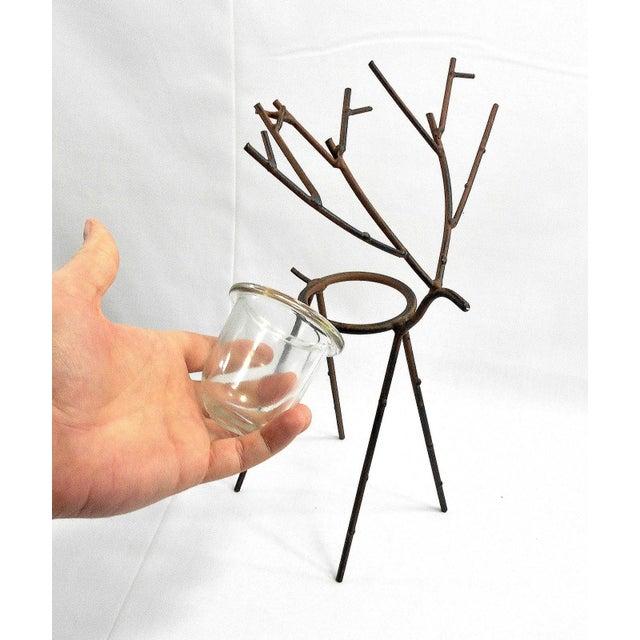 Glass Deer Figure Votive Candle Holder For Sale - Image 7 of 8