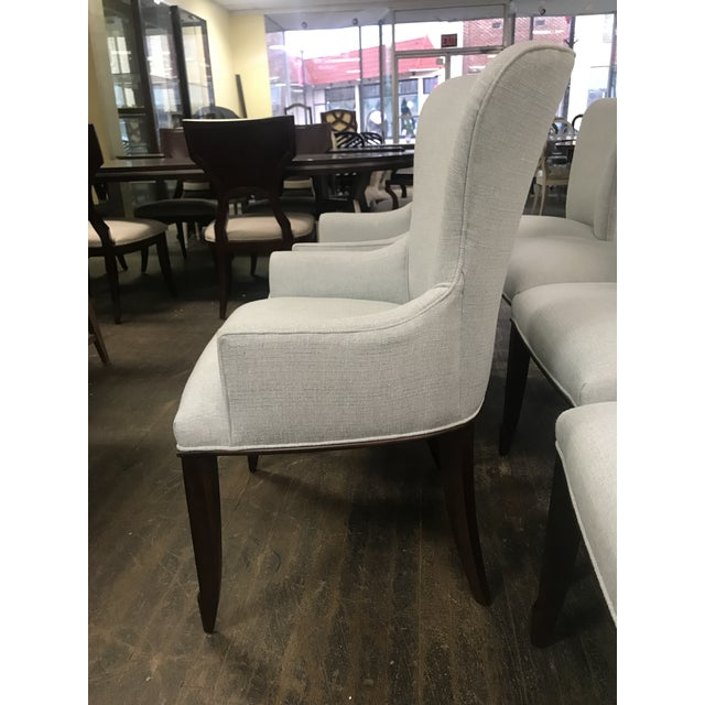 Henredon Henredon Furniture Barbara Barry Bowmont Light Blue Dining Chairs- 6 Pieces For Sale - Image 4 of 11