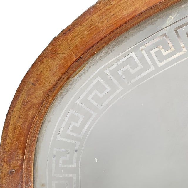 19th Century American Arch Top Greek Key Transom Window For Sale - Image 4 of 8