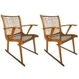Image of Pair of Armchairs by Vermont Tubbs For Sale