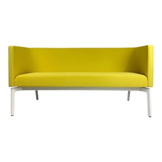 Stunning Pop Art Postmodern Yellow Sofa Settee or Loveseat by Steelcase For Sale
