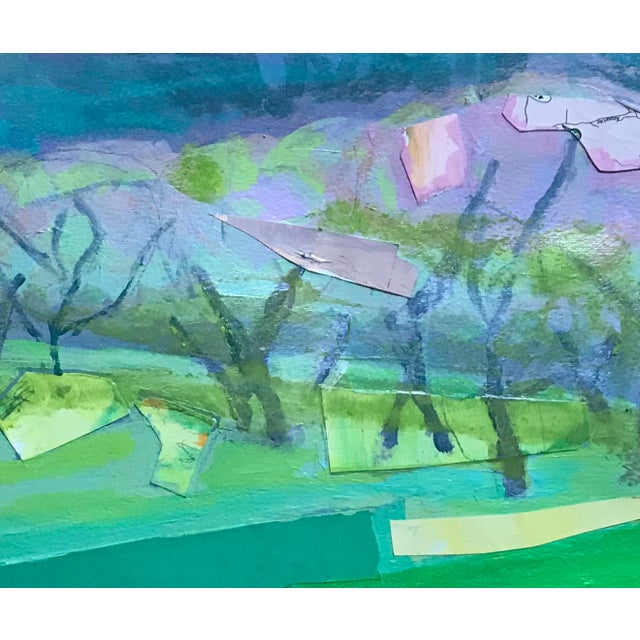 Contemporary Mixed Media Landscape For Sale - Image 4 of 4