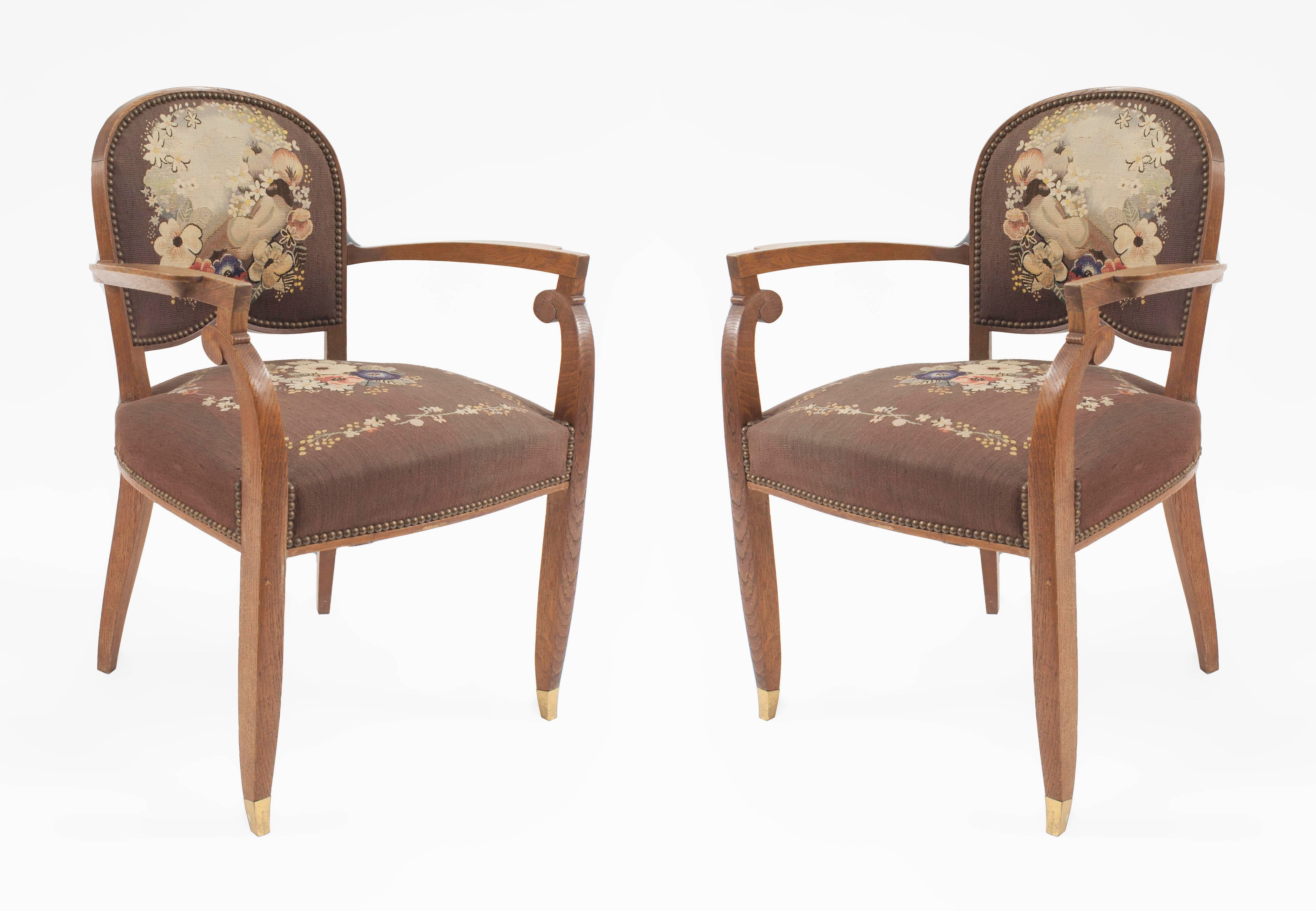 Pair Of French Art Deco Arm Chair   Image 6 Of 6