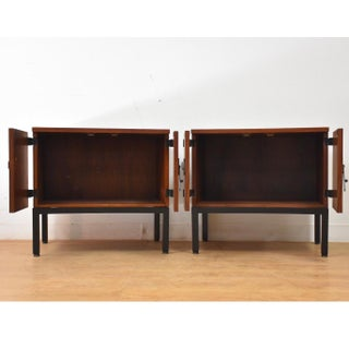 Milo Baughman for Directional Walnut Nightstands- a Pair Preview