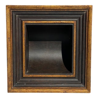 """Baroque Style Bathroom Paper Holder in """"Nicollo"""" Ebony and Gold Parcel-Gilt by Judson Rothschild for The Rothschild Collection For Sale"""