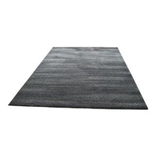 Subtle Striped Gray & Black Rug - 5'3''x 7'7''