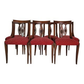 Vintage Italian Gondola Wood Dining Chairs - Set of 7 For Sale