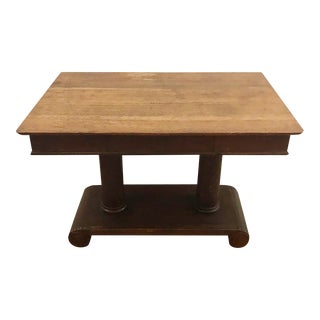 19th Century Antique Library Table For Sale