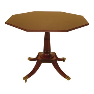 Baker Octagonal Mahogany Center or Breakfast Table