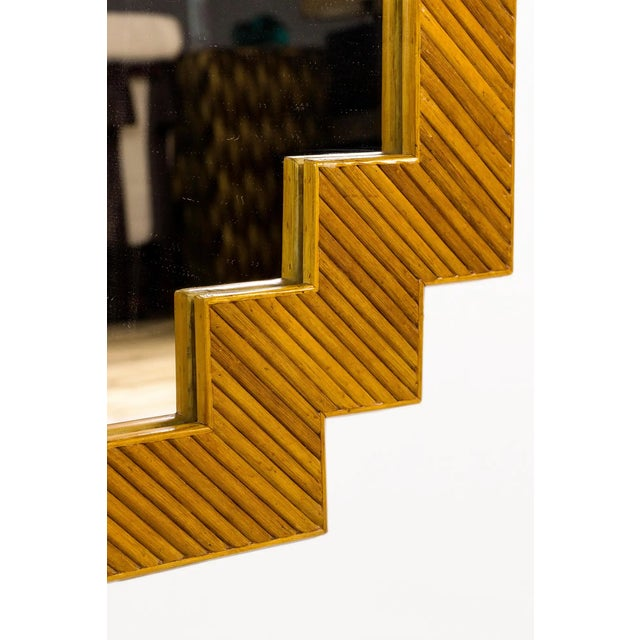 1970s Bamboo Wall Mirror, France For Sale - Image 4 of 6
