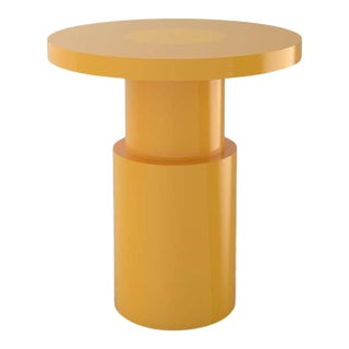 Contemporary 105C End Table by Orphan Work, 2020, Yellow For Sale