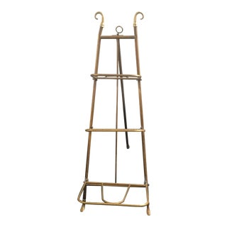 Mid-Century Brass 3-Shelf Book Easel For Sale