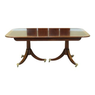 Karges Flame Mahogany Duncan Phyfe Dining Room Table For Sale